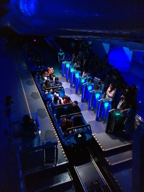 Space Mountain ride Tokyo Disneyland