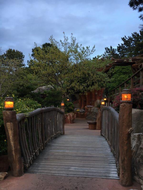 Sun going down at Tokyo Disneyland