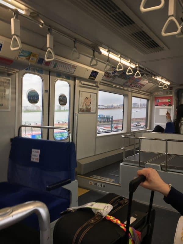 Onboard public transport Tokyo