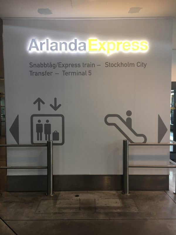 Sign for Arlanda Express