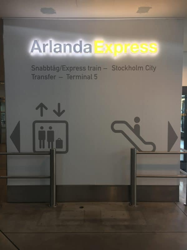 Direction Sign for Arlanda Express