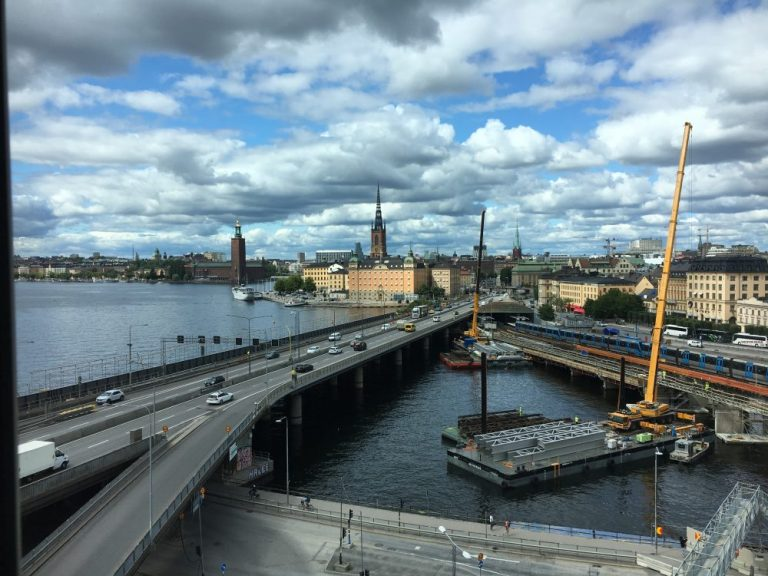 View from Hilton Stockholm Hotel room