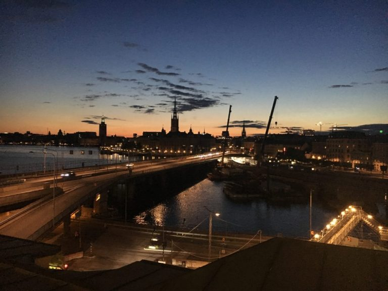 Nightime View from Hilton Stockholm