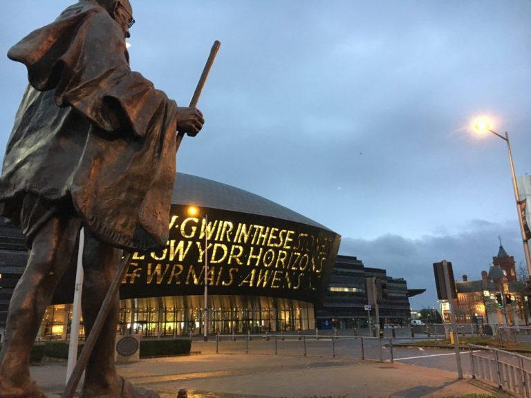 Cardiff Bay mahatma gandhi
