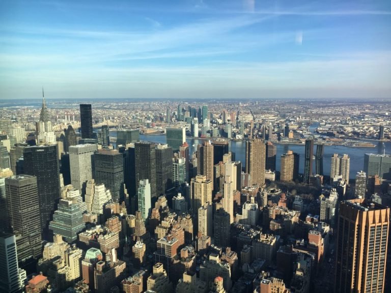 View from Empire State Building in New York in February