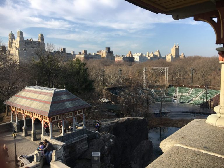 Views from in Central Park in New York in February