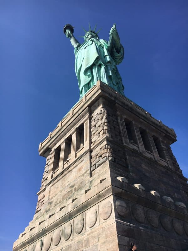 Statue of Liberty in New York in February