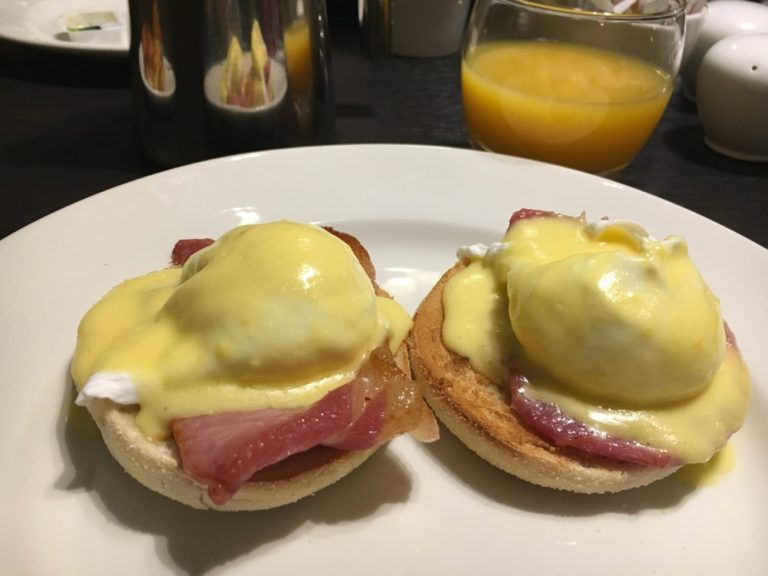 Hilton Edinburgh Carlton Breakfast Eggs Benedict