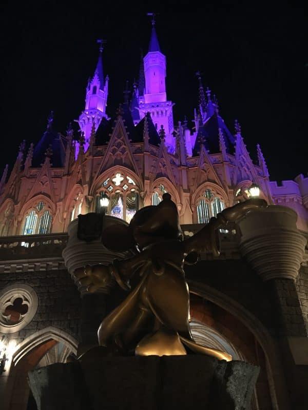 Tokyo Disneyland rides & attractions Cinderella castle at night