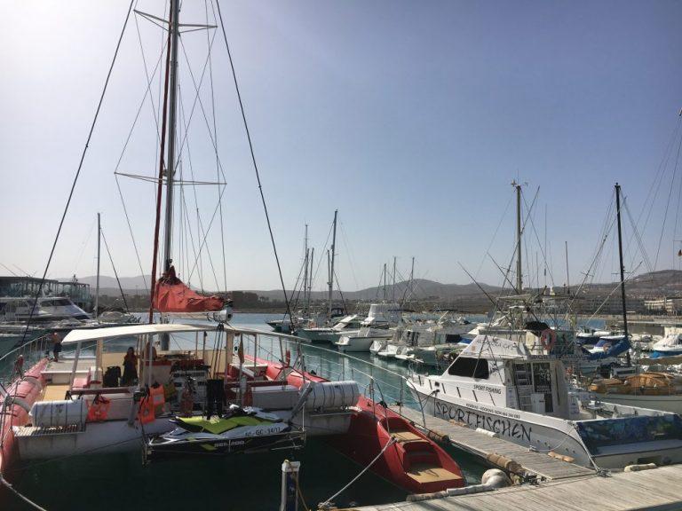 Marina in Fuerteventura in February