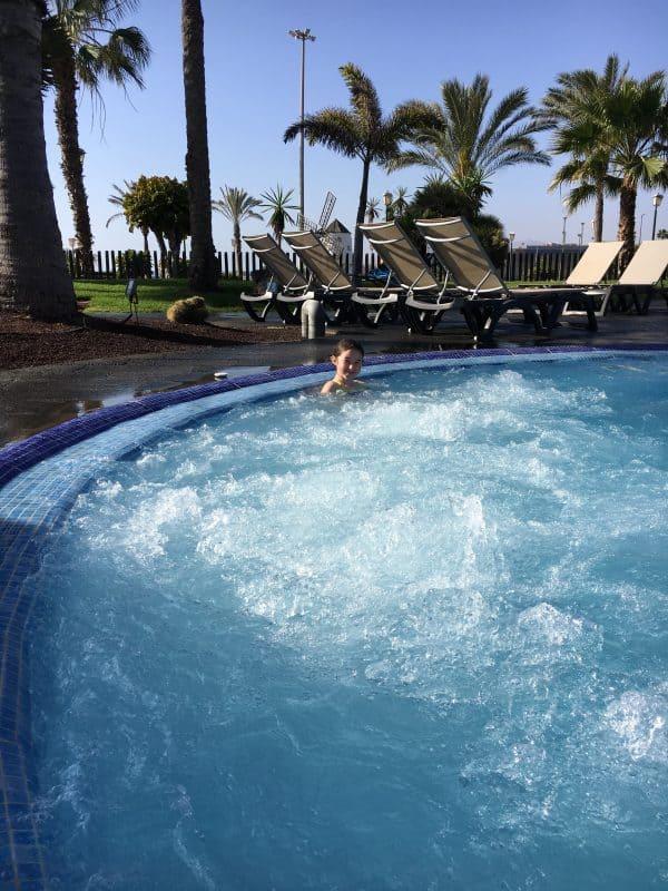 In the pool in Fuerteventura in February