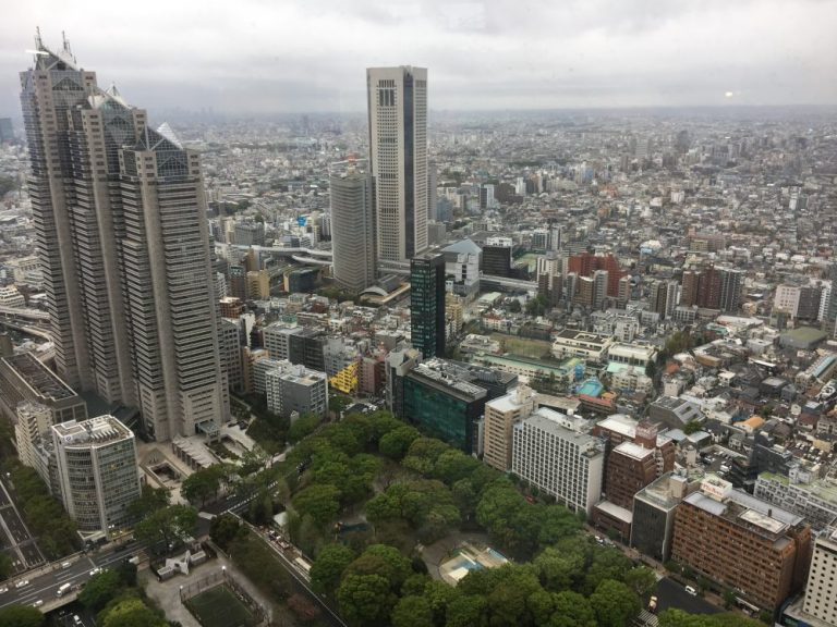 View from Tokyo Government building in the day things to do in tokyo