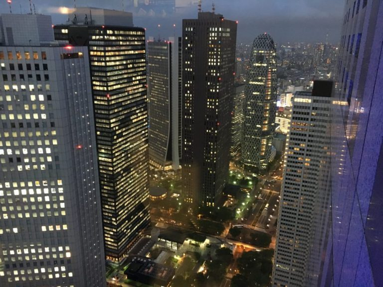 View from Tokyo Government building at night things to do in tokyo