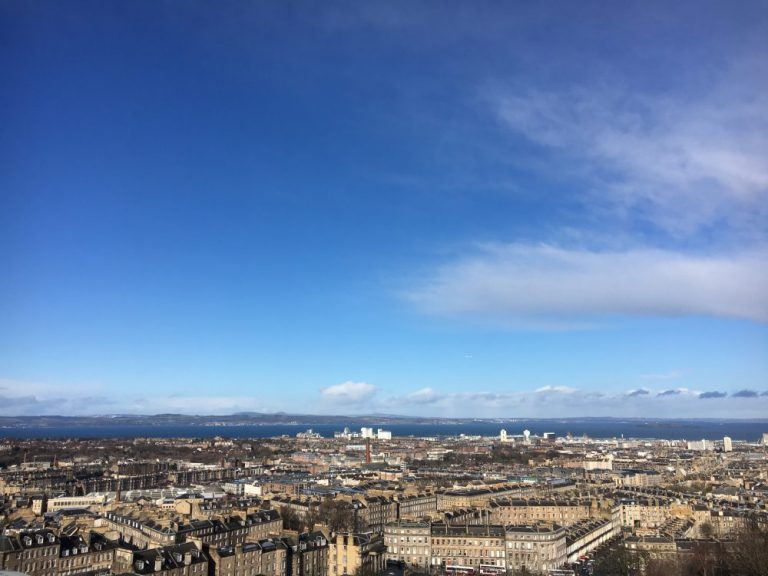 Things to do in Edinburgh as a family View from Calton Hill