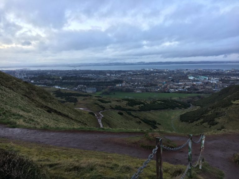 View from Arthur's Seat Summit Edinburgh