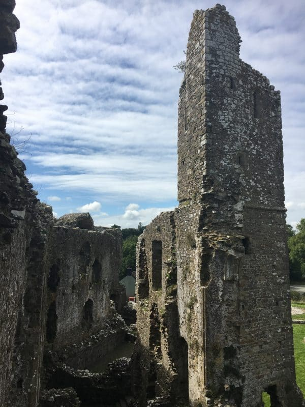 View from Inside Llawhaden castle tower
