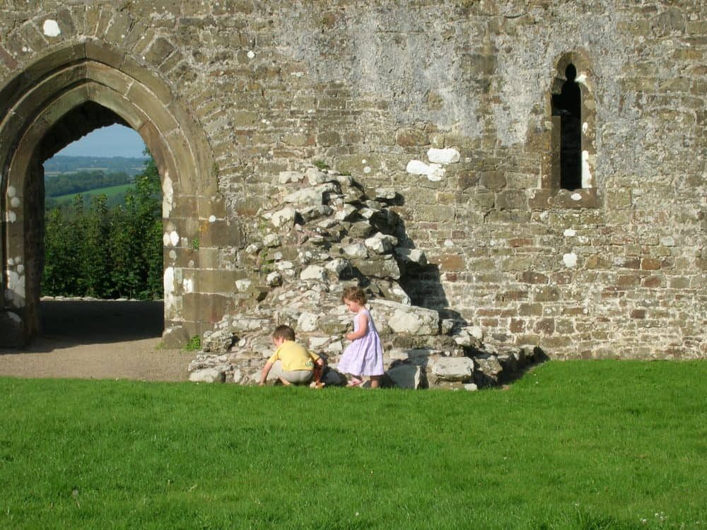 More info on family fun at Llawhaden Castle when theu were little
