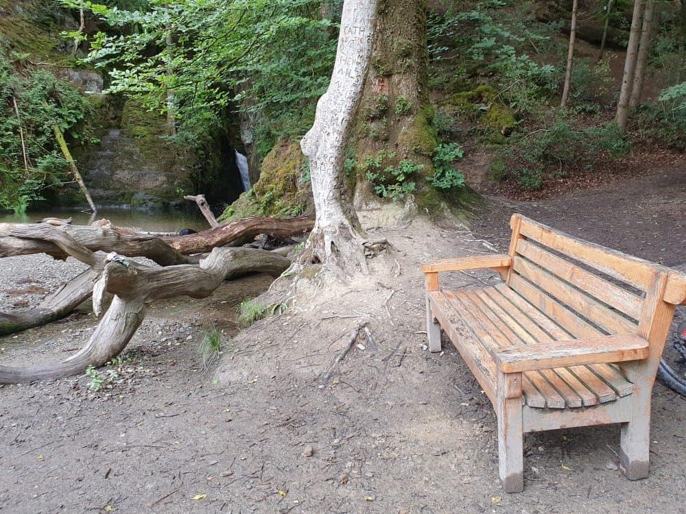 Ffynone Waterfall bench
