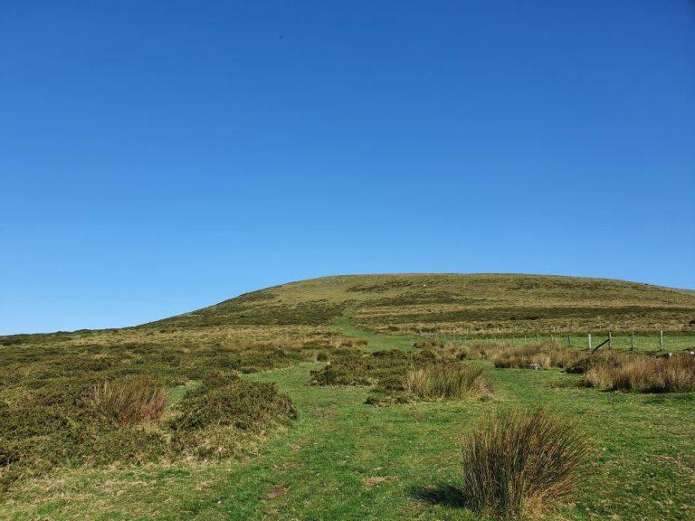 The hill of the Preseli Hills crash site