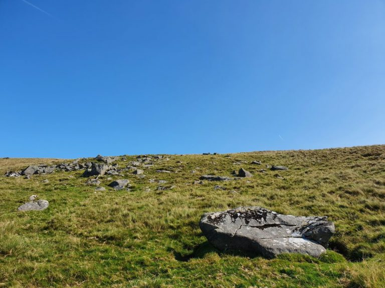heading through the rocks near the Preseli Hills crash site