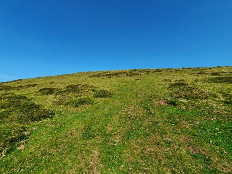 Start of the walk to the Preseli Hills crash site