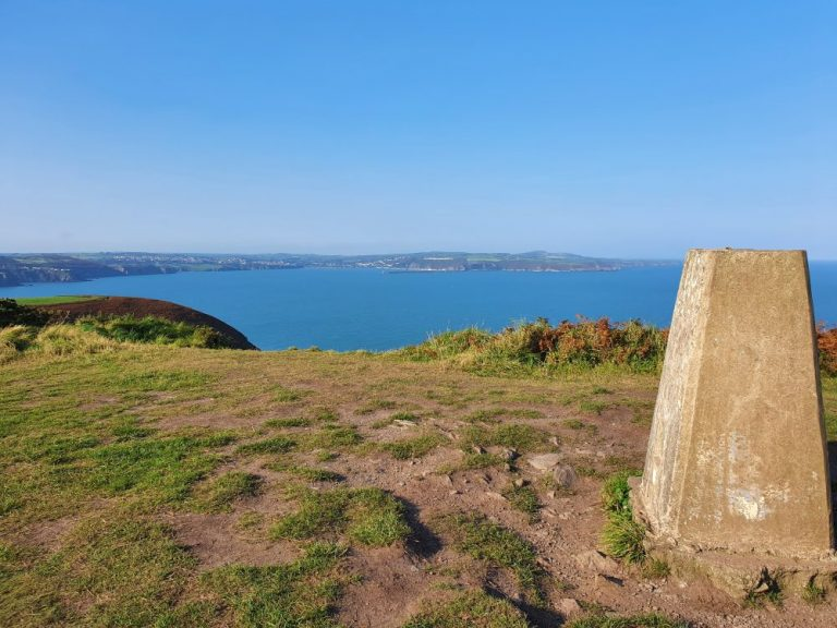 The Trig Point on the Dinas Head Walk
