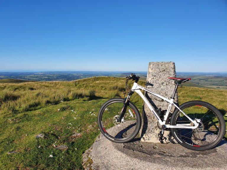 Mountain Bike on top of Foel Cwmcerwyn