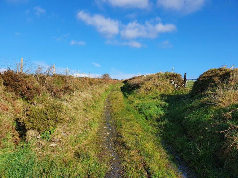 The walk route to Foel Cwmcerwyn