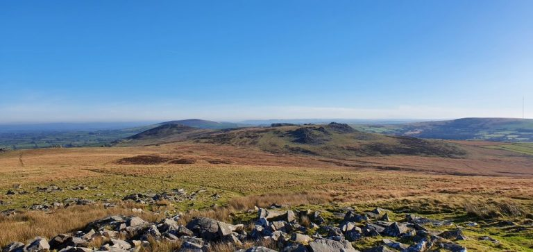 View of Carn Menyn on The Preseli Hills Golden Road