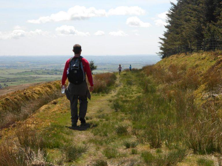 Walking down from Foel Cwmcerwyn