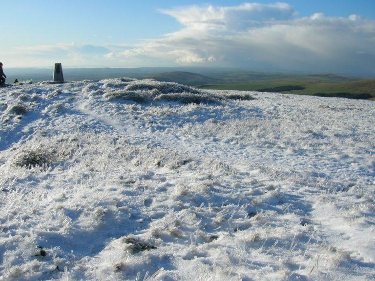 Preseli Hills walks Foel Cwmcerwyn in the snow