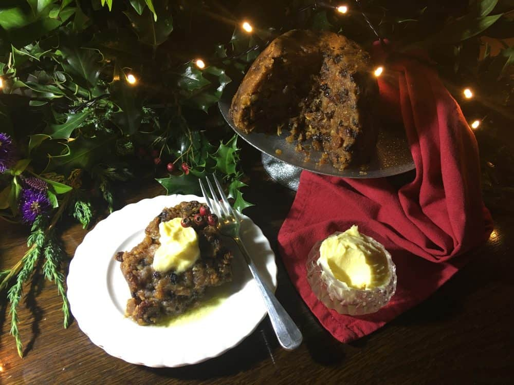 Shopping locally at Christmas woodsend puddings