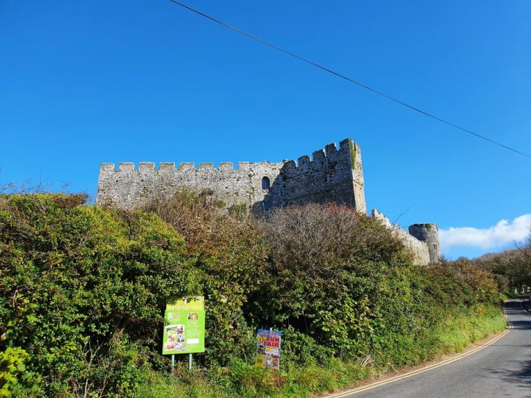 Manorbier Castle parking