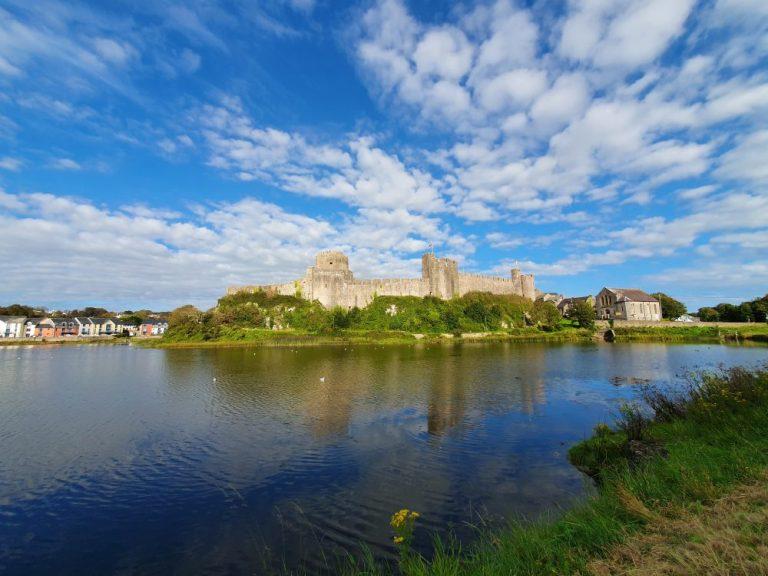 Walking around Pembroke Castle