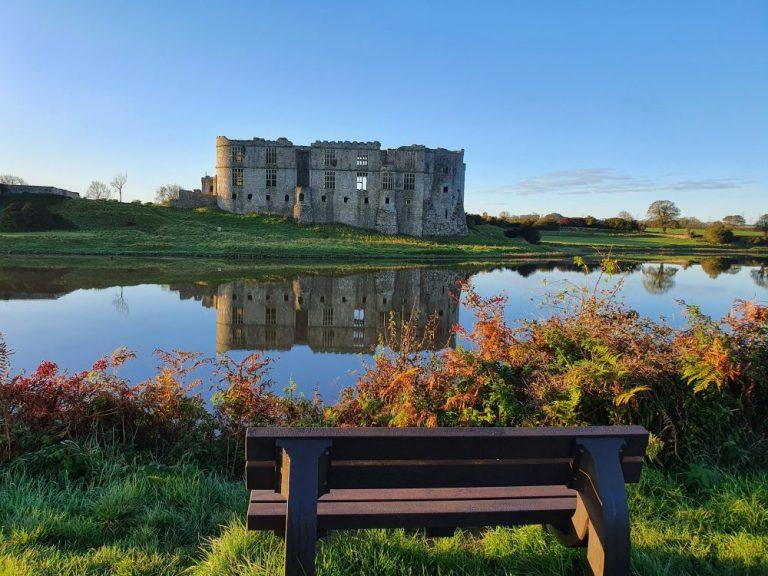 Carew Castle circular walk benches