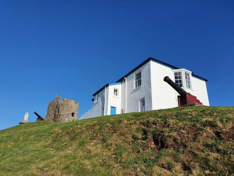 Tenby Castle hill