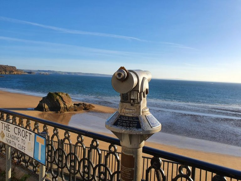 Looking out to sea from The Croft in Tenby