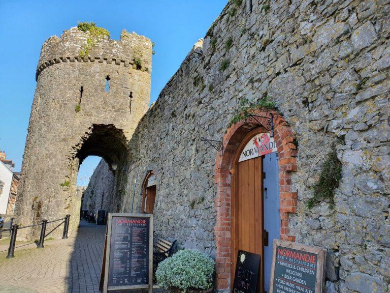 Tenby Castle Walls