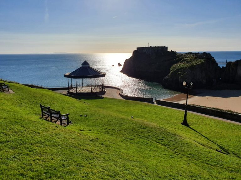 Tenby Castle Beach from Castle Hill
