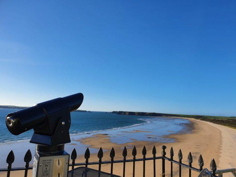 Tenby South Beach viewfinder